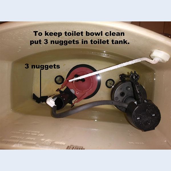 Shungite Nuggets in the Toilet