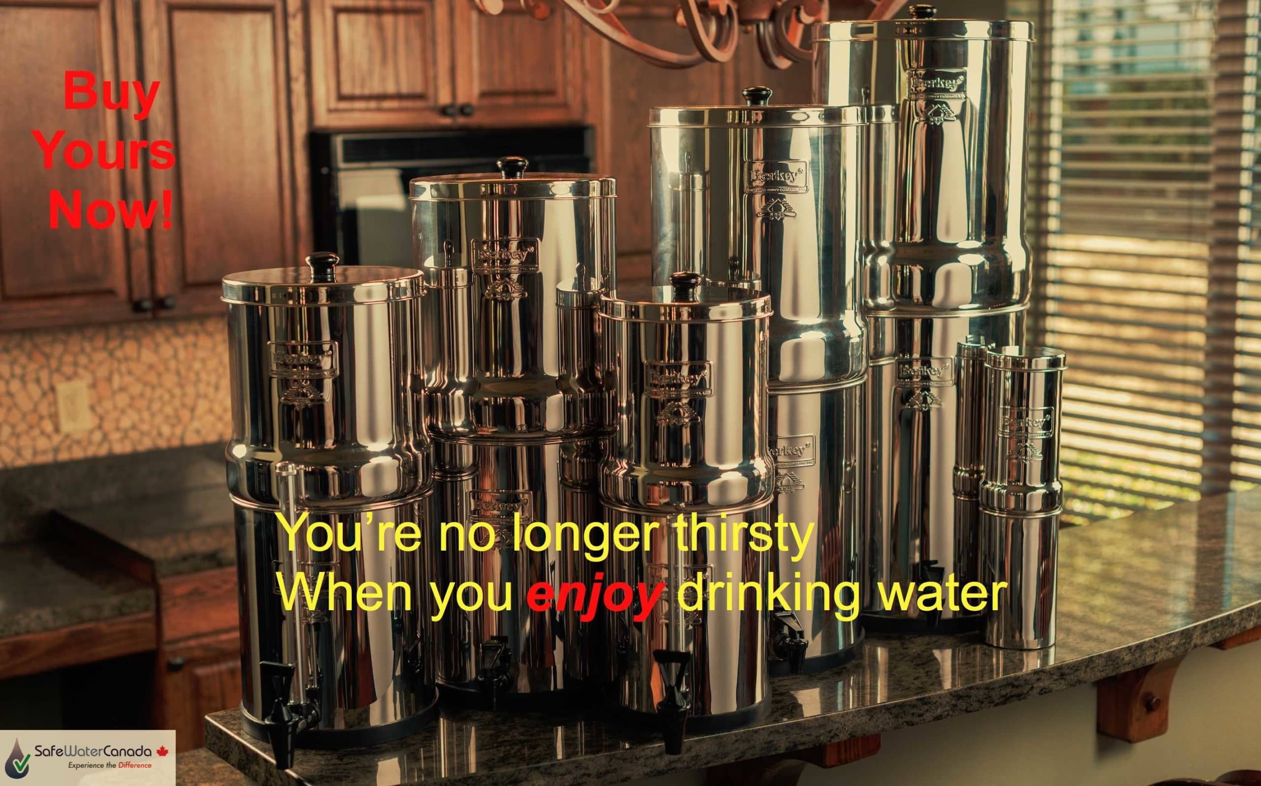 You're no longer thirsty when you enjoy drinking water